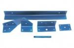 КОМПЛЕКТ МЕТАЛЛОИЗДЕЛИЙ 198.0. Кронштейн 093, накладка 100, шпилька 101, уголок 102, уголок 103. Материал: сталь. Покрытие: оксид
